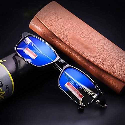 おしゃれ 老眼鏡 ブルーライトカット ブライトブラック/ワインレッド 度数+1.0、+1.5、+2.0、+2.5、+3.0 (軽量 形状記憶 フレーム)