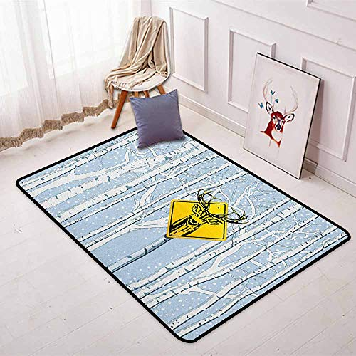 Hunting Non-Slip Absorbent Carpet Attention Deer in