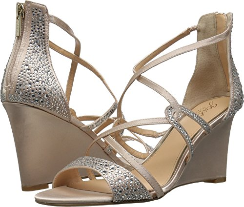 Badgley Mischka Jewel Women's Ally II Wedge Sandal, Champagn