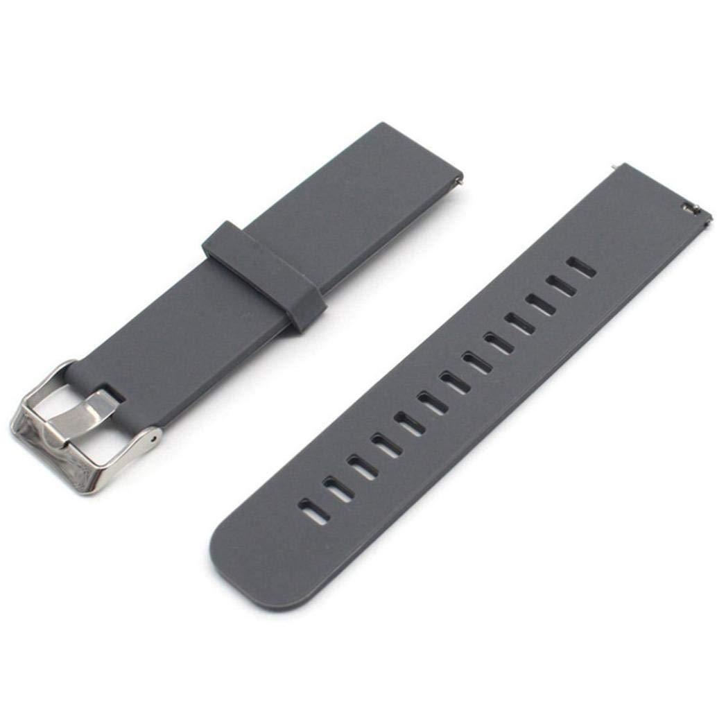 Zolimx Sólido Color Patrón Silicona Correa de Reemplazo Smartwatch ...