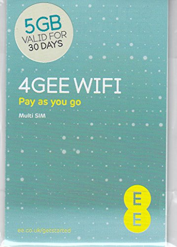 Europe (UK EE) 4G Mobile Broadband Data SIM preloaded with 5GB lasting 30 days FREE ROAMING / USE in Europe by EE UK Mobile