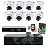 GW Security 5MP 1920p 8 Channel NVR Network Security Camera System – 8 x HD 5MP 1080P 2.8~12mm Varifocal Zoom Weatherproof Dome PoE IP Camera For Sale