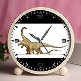 Alarm Clock, Bedroom Tabletop Retro Portable Clocks with Nightlight Custom designs Dinosaurs 50_Saltasaurus dinosaur