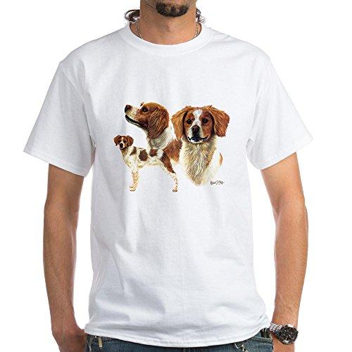 (CafePress Brittany Spaniel White T-Shirt 100% Cotton T-Shirt, White)