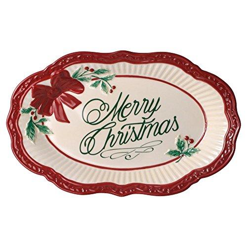- Mikasa Italian Countryside Holiday Merry Christmas Plate