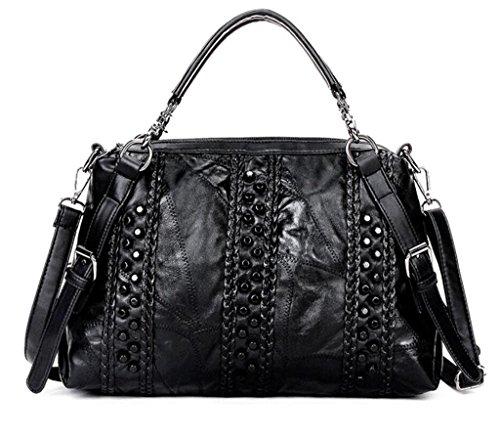 Fashion Shopping Sheepskin Bag Cross SHOUTIBAO Shoulder Women Work pattern Handbag Diagonal Package single aPanIB1