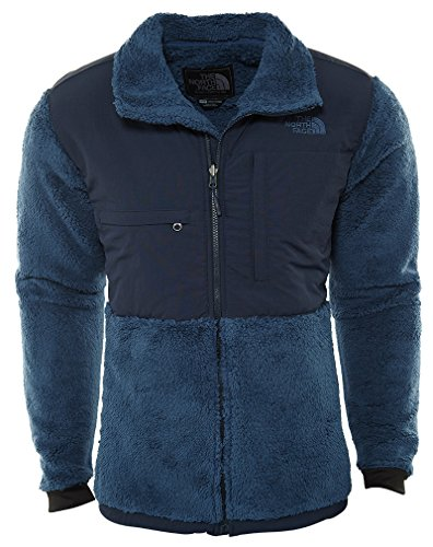 The North Face Novelty Denali Jacket Men's Shady Blue Sherpa/Urban Navy (The North Face Denali Mens)