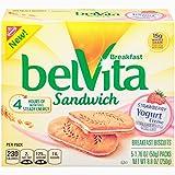 belVita Strawberry Yogurt Creme Sandwich Breakfast Biscuits (5 Count Box, 8.8 oz) (Pack of 6)