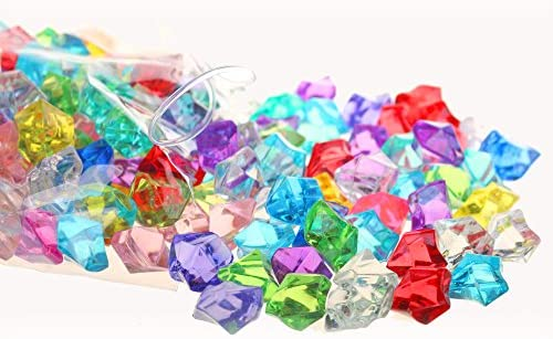 home, kitchen, home décor,  vase fillers 11 image PMLAND Acrylic Jewels Gems, Bulk 1 Pound per in USA