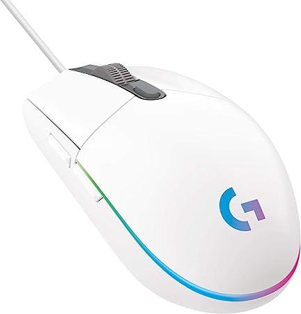 Oferta amazon: Logitech G203 LIGHTSYNC Ratón con iluminación RGB personalizable para gaming, 6 botones programables, sensor para gaming, seguimiento de hasta 8.000 dpi, peso ligero,G203 2ª Gen.,Blanco