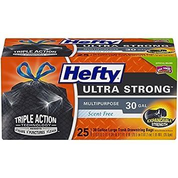 8fb8bec1f Amazon.com: Hefty Ultra Strong Multipurpose Large Black Trash Bags ...