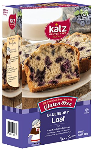 Katz Gluten Free Blueberry Loaf, 13.5 Ounce, Certified Gluten Free - Kosher - Dairy, Soy, Corn & Nut free - (Pack of - Sites Hot Online