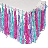 Bargain World Paper Spa Party Fringe Tableskirt (With Sticky Notes)