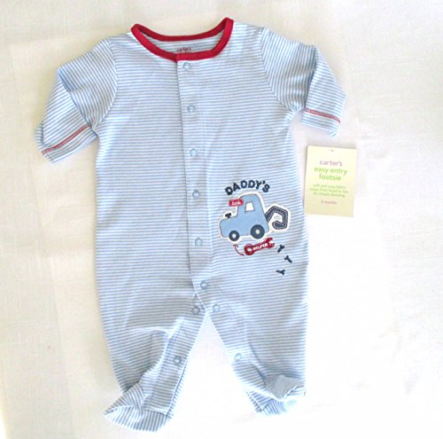 Carter's Easy Entry Footsie...1 Piece Sleep & Play 3 Month..blue