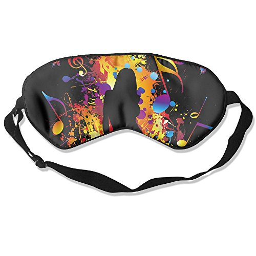 WUGOU Sleep Eye Mask Singing Girl Lightweight Soft Blindfold Adjustable Head Strap Eyeshade Travel Eyepatch