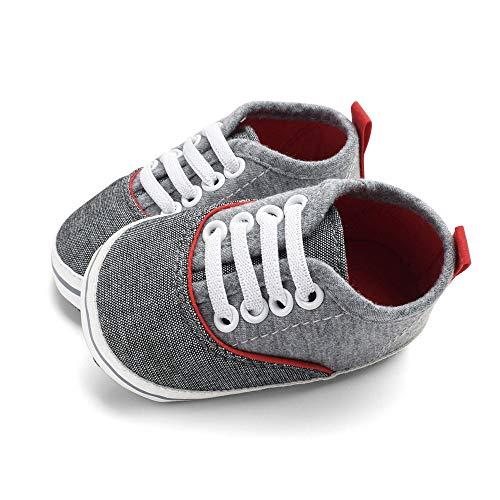 Los Suave Niños Gusspower Fondo Bebés De Para Pasos Primeros Antideslizantes Lona Deportivas Zapatos Gris Corriendo Blando Zapatillas ZInvxwfAz