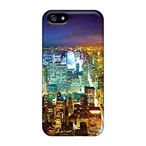 Zmo30547XTCI Anti-scratch Cases Covers Favorcase Protective City Lights Cases For Iphone 5/5s