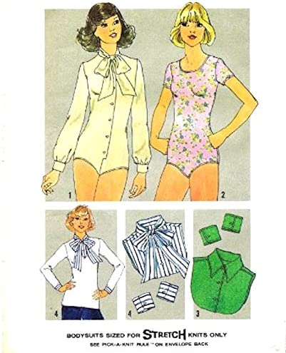Amazon Com Simplicity Vintage Sewing Pattern 7681 Set Of Bodysuits Dickies Cuffs Size 10 Everything Else