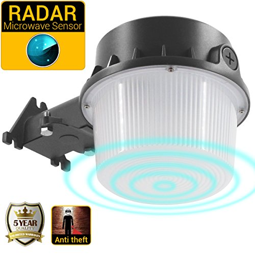 Outdoor Security Light, Microwave Radar Motion Sensor, 35W Yard Light for Area Lighting, 5000K Barn Light, 3700lm Floodlight ETL/cETL Approved