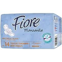 FIORE Toalla Femeninas Con Alas, 336 toallitas  (24 paquetes de 14 toallitas)