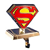 Superman Kurt Adler Superman Logo Stocking Hanger, Silver