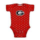 Georgia Bulldogs NCAA College Newborn Infant Baby Heart Creeper (0-3 Months)