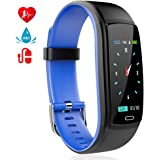Fitness Tracker, Activity Tracker with Pedometer Blood Pressure Heart Rate Monitor IP67 Waterproof Wristbands, Calorie Counter Watch, Sleep Monitor, Calls/SNS/SMS Remind for Men Women Android iPhone