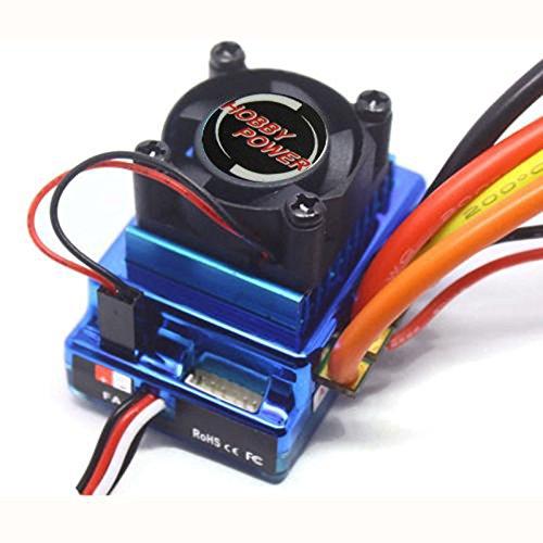Hobbypower 120A ESC Sensored Brushless Speed Controller for 1/8 1/10 Car Truck Crawler
