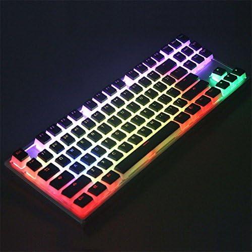 Double Shot 104 Key PBT OEM Profile ANSI Layout Pudding Double-Skin Backlit Keycap for Mechanical Gaming Keyboard