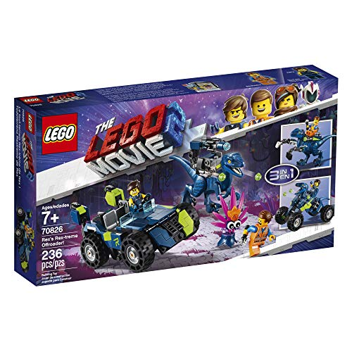 519Xmbl4jcL - LEGO THE LEGO MOVIE 2 Rex's Rex-treme Offroader! 70826 Dinosaur Car Toy Set For Boys and Girls, Action Building Kit (230 Pieces)