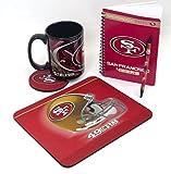 "San Francisco 49ers Computer Set. Includes a Jumbo 15 Ounce Coffee Mug, Mouse pad, Journal 5"" x 7"", and Pen to."