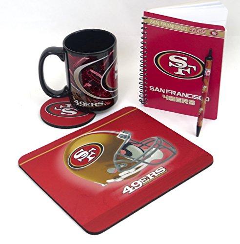 San Francisco 49ers computer set. Includes a jumbo 15 ounce coffee mug, mouse pad, journal 5