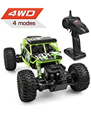 Alfreco RC Car, 1:18 4WD Off road Monster Truck 2.4G Remote Control Rock Crawler with 4 Operating Mode