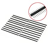 ERTIANANG 20pcs Mayitr Header Connector 2.54mm 40 Pin Header Single Row Straight Needle Male Connector Electrical Supplies