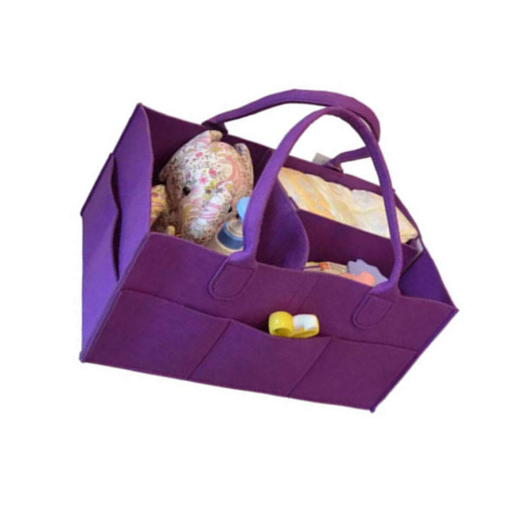 Baby Diaper Caddy with 3 Compartments and 5 Pouches Green and Soft Fabric Foldable Car Organizer with Removable Compartment 12.99 * 9.05 * 7.28 in Beige
