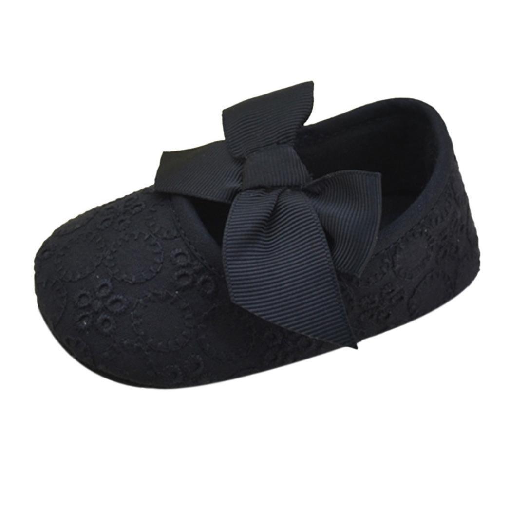 Amazon.com  Perman Baby Infant Girls Cotton Ribbon Bowknot Soft Bottom  Flower Prewalker  Clothing 84c5430243a9