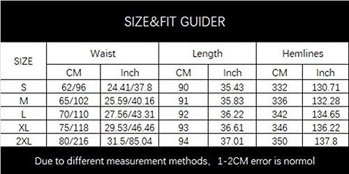 Jupe Longue Bohme Maxi Double Coton Couche Longue avec Couleur Pure Robe Lin Femme Blanc pour GUOCU lastique Ceinture 1Bwq0B