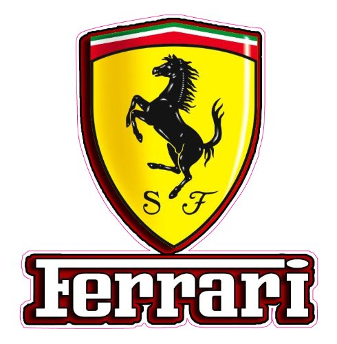 Nostalgia Decals Ferrari Emblem Decal 5