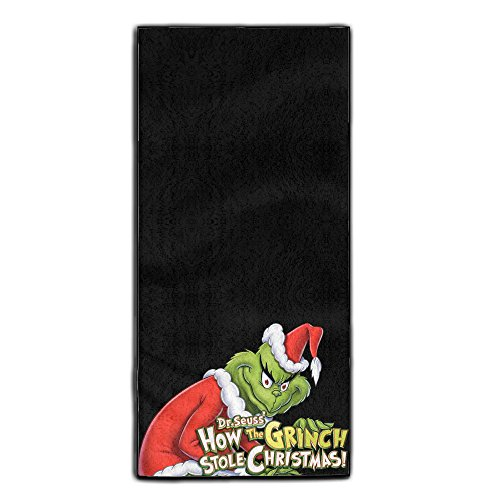 The Grinch Stole Christmas Cute Bathroom Sports Towels One Size - Grinch Drawing