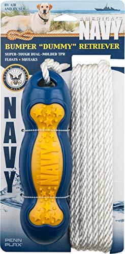 (Penn Plax Officially Licensed America's Navy: Retrieval Bumper Dummy for Dogs - Dog Toyÿ)