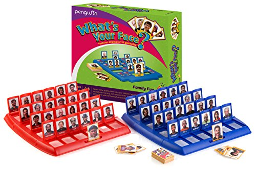 Pengwin Guess Who What's Your Face Children's Classic Educational Board Game For Kids & Adults   Tabletop Gameboards, Playing Cards & Pieces   Enhance Critical Thinking, Have Fun, Cooperate, Act Fast