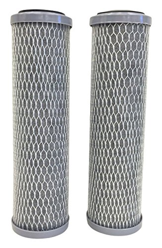 3M 3WH-STDCW-F02H Standard Capacity Whole House Carbon Water Filter (2 Pack) - Universal Fit - Fits Most Major Brand Water Filtration Systems