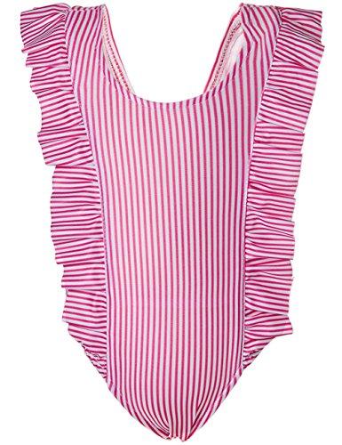 Ruffle One Swimsuit Infant Piece (Funnycokid Baby Girls One-Piece Striped Ruffle Swimsuit Bathing Suit Swimwear)