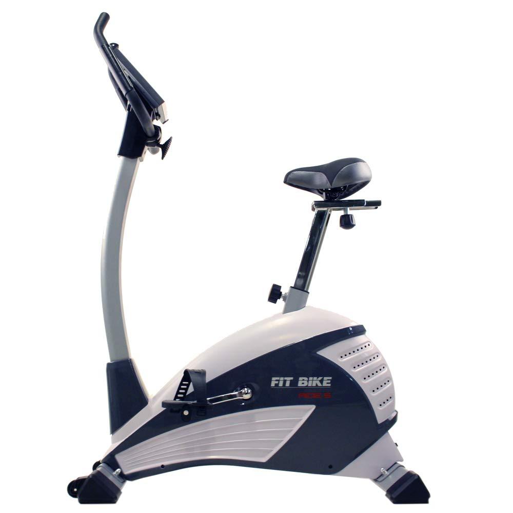 FitBike Heimtrainer Ride 5 - 16 Widerstandsniveaus mit 19 Trainingsprogrammen - 10 kg Schwungrad - Fitnessbike