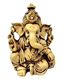 "3.5"" Lord Ganesh / Ganesha Statue Sculpted in Great Detail with Antique Finish - Ganesh Idol for Car / Home Decor / Mandir / Gift. Hindu God Idol."