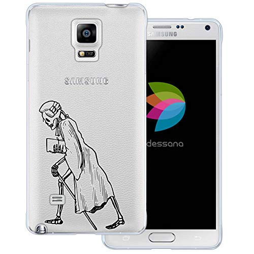 Renaissance Crystal Four - dessana Skull Skeleton Transparent Silicone TPU Protective Case 0.7mm Ultra Thin Phone Soft Cover for Samsung Galaxy Note 4 Renaissance Skeleton