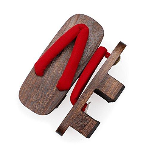 Kvinna Japansk Stil Trä Geta Träskor Sandaler Skor Se130-2