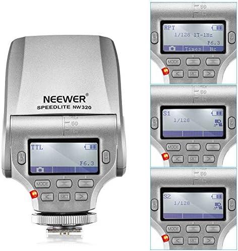 Neewer NW320 TTL - Flash para Panasonic Lumix DMC GF7 GM5 GH4 GM1 GX7 G6 GF6 GH3 G5 GF5 GX1 GF3 G3, Olympus OM-D E-M5 II E-M10 E-M1 Pen E-PL7 E-P5 E-PL6