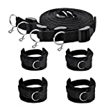 Bravolink Fetish Bed Restraint Kit with Hand/Ankle Cuff Bondage Collection for Male-Female Couple, Size 1, 16.75 Ounce