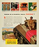 1944 Ad Hercules Powder Wilmington Cellulose Acetate Products Tubing WWII Tank - Original Print Ad